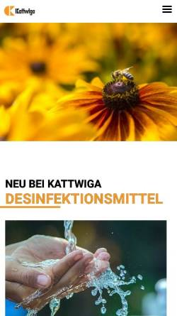 Vorschau der mobilen Webseite www.kattwiga.de, Pharmazeutische Fabrik Kattwiga GmbH