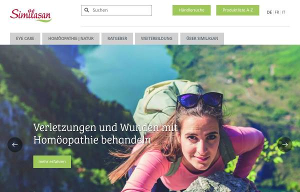 Vorschau von www.similasan.ch, Similasan AG