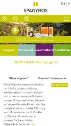 Vorschau der mobilen Webseite www.spagyros.ch, Spagyros