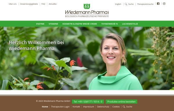 Vorschau von www.wiedemann-pharma.de, Wiedemann Pharma GmbH