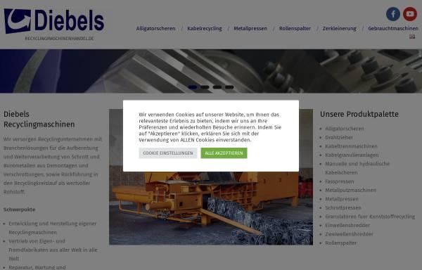 Vorschau von www.recyclingmaschinenhandel.de, Gertrud Diebels Recyclingmaschinenhandel