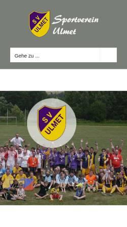 Vorschau der mobilen Webseite svulmet.de, Sportverein Ulmet 1919 e.V.
