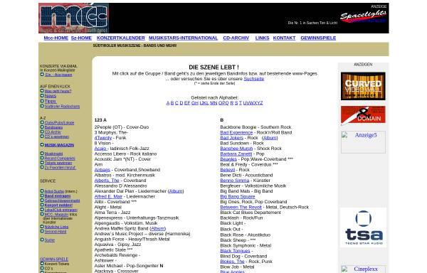 Vorschau von www.riegler.it, Südtiroler Musikszene - Bands und Livegruppen
