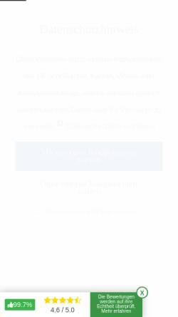 Vorschau der mobilen Webseite www.hotel-strandschloesschen.de, Hotel Strandschloesschen