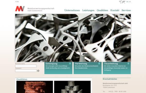 Vorschau von www.mvgottenheim.de, MV Metallverwertungsgesellschaft mbH
