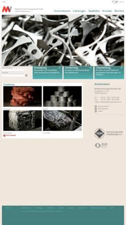 Vorschau der mobilen Webseite www.mvgottenheim.de, MV Metallverwertungsgesellschaft mbH