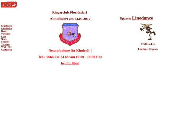 Vorschau von members.chello.at, Ringerclub Floridsdorf Wien