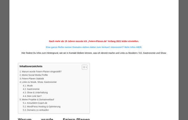 Vorschau von www.feiern-planen.de, Feiern - Planen