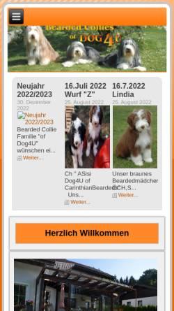 Vorschau der mobilen Webseite www.dog4u.at, Of Dog 4U