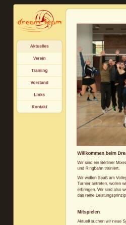 Vorschau der mobilen Webseite www.dream-team-ev.de, Dream-Team e.V.