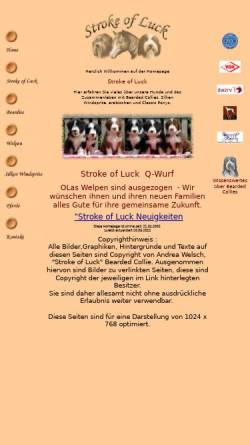 Vorschau der mobilen Webseite www.bearded-collie.de, Stroke of Luck