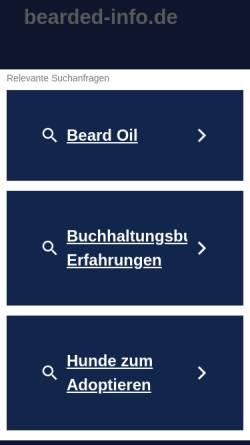 Vorschau der mobilen Webseite www.bearded-info.de, Von der Hummelwiese
