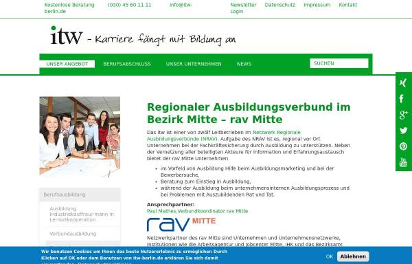 Vorschau von www.ausbildungsverbund-mitte.de, Ausbildungsverbund Berlin-Mitte