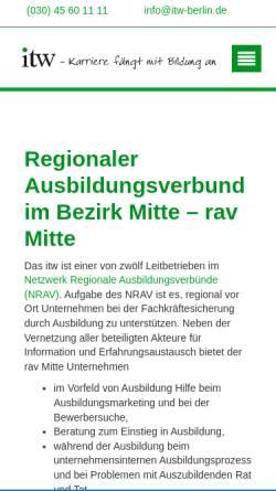 Vorschau der mobilen Webseite www.ausbildungsverbund-mitte.de, Ausbildungsverbund Berlin-Mitte