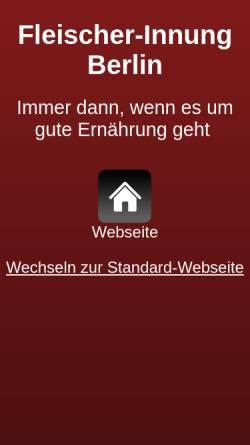 Vorschau der mobilen Webseite www.fleischer-innung-berlin.de, Fleischer-Innung Berlin