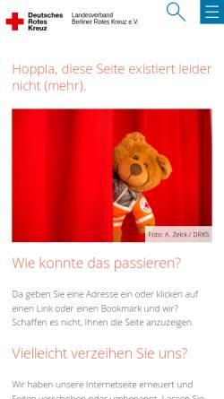 Vorschau der mobilen Webseite www.drk-berlin.de, Rotkreuz-Institut Berufsbildungswerk (RKI)