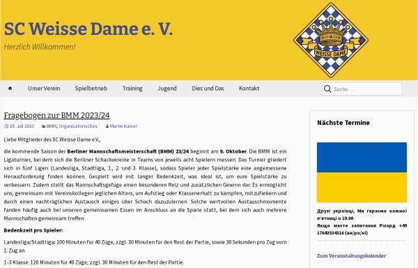 Vorschau von www.sc-weisse-dame.de, Schachclub Weiße Dame e.V.