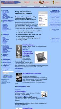 Vorschau der mobilen Webseite www.billigheadshop.de, Gaia Trading, Michael Duhnke