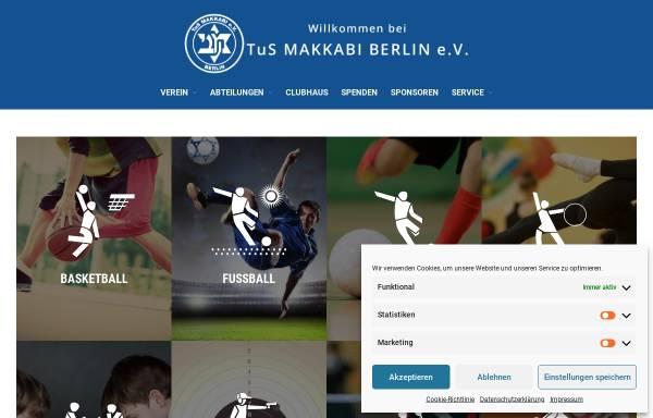 Vorschau von tus-makkabi.de, TuS Makkabi Berlin e.V.