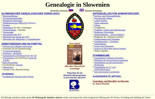 Vorschau von www2.arnes.si, Genealogie in Slowenien