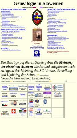 Vorschau der mobilen Webseite www2.arnes.si, Genealogie in Slowenien