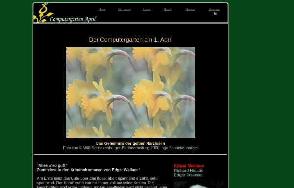 Vorschau von www.onlinekunst.de, Edgar Wallace im Computergarten am 1. April