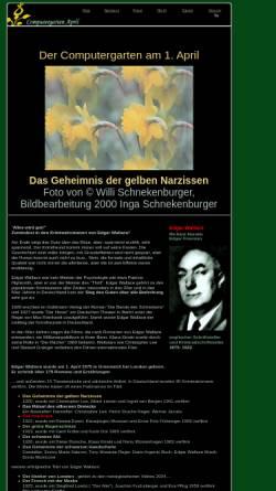 Vorschau der mobilen Webseite www.onlinekunst.de, Edgar Wallace im Computergarten am 1. April