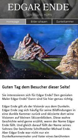 Vorschau der mobilen Webseite www.edgarende.de, Ende, Edgar (1901-1965)