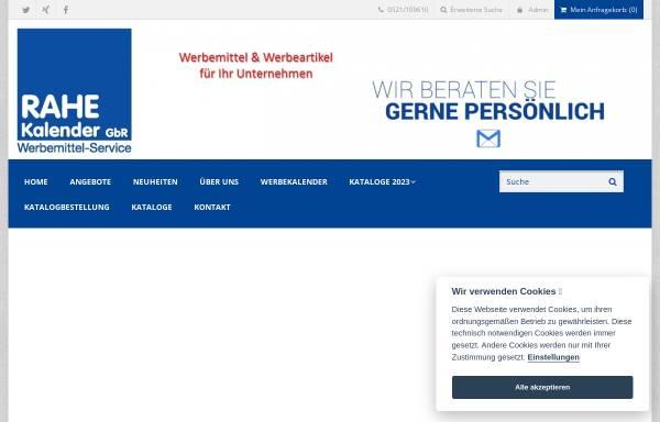 Vorschau von www.rahe-werbemittel.de, Rahe Kalender & Werbemittel-Service GbR