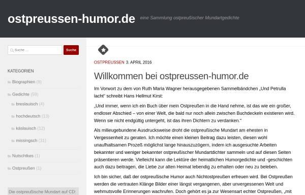 Vorschau von www.ostpreussen-humor.de, Ostpreußischer Humor