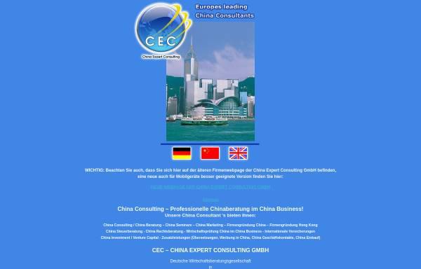 Vorschau von www.chinaexpert.de, China Expert Consulting GmbH