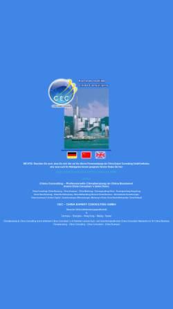 Vorschau der mobilen Webseite www.chinaexpert.de, China Expert Consulting GmbH
