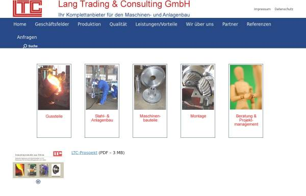 Vorschau von ltc-handel.de, Lang Trading & Consulting GmbH