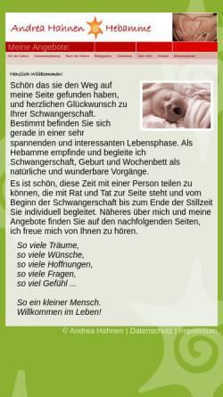 Vorschau der mobilen Webseite www.andrea-hahnen.de, Hahnen, Andrea