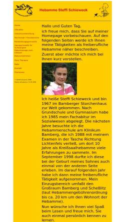 Vorschau der mobilen Webseite www.hebamme-steffi.com, Schieweck, Steffi