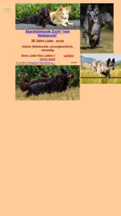 Vorschau der mobilen Webseite www.alpenhuetehunde.de, Alpenhütehunde
