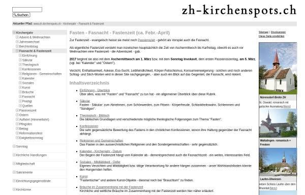 Vorschau von www.zh-kirchenspots.ch, Fasten
