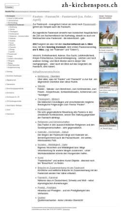 Vorschau der mobilen Webseite www.zh-kirchenspots.ch, Fasten