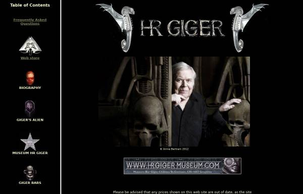 Vorschau von www.hrgiger.com, Giger, H.R.