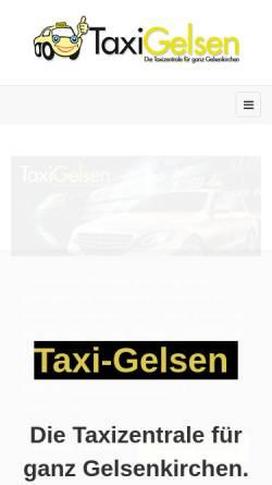 Vorschau der mobilen Webseite www.taxi-gelsen.de, Taxi Gelsen