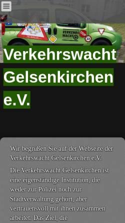 Vorschau der mobilen Webseite www.verkehrswacht-gelsenkirchen.de, Verkehrswacht Gelsenkirchen e.V.