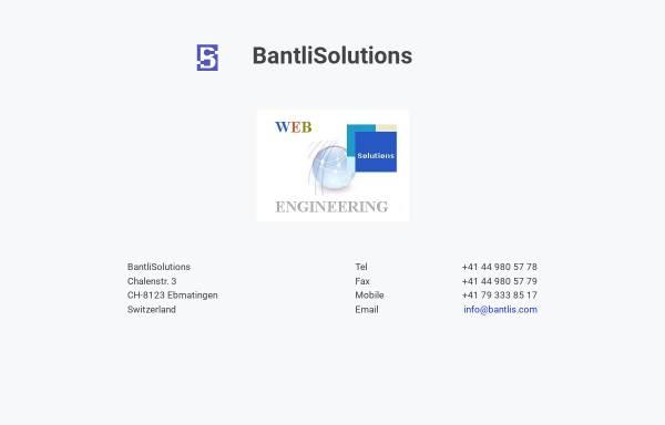 Vorschau von www.bantlis.com, Bantli Solutions