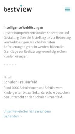 Vorschau der mobilen Webseite www.bestview.ch, Bestview GmbH