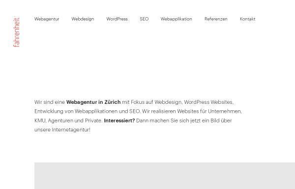 Vorschau von www.fahrenheit.ch, Fahrenheit