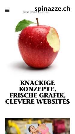 Vorschau der mobilen Webseite www.spinazze.ch, Spinazze