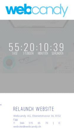 Vorschau der mobilen Webseite www.webcandy.ch, Web Candy