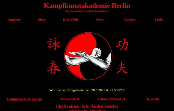 Vorschau von www.vingtsun-berlin.de, Kampfkunstakademie Berlin