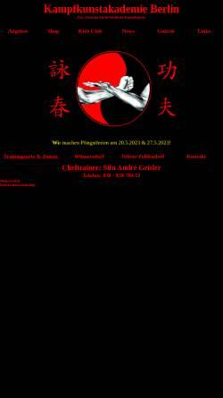 Vorschau der mobilen Webseite www.vingtsun-berlin.de, Kampfkunstakademie Berlin