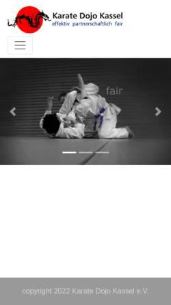 Vorschau der mobilen Webseite www.selbstverteidigung-kassel.de, Karate Dojo Kassel