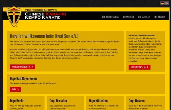 Vorschau von www.karaho.de, Kwai Sun - Verein für Chinese Kara-Ho Kempo Karate in Deutschland e.V.